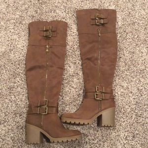 Never worn! White Mountain over the knee boots